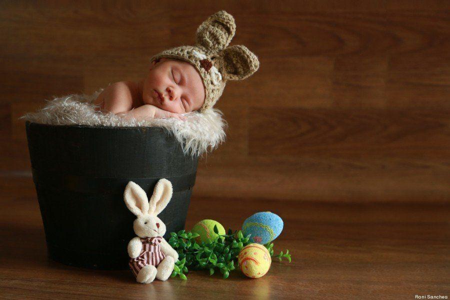 Estes bebês fotografados em clima de Páscoa são muito mais doce do que qualquer ovo de chocolate