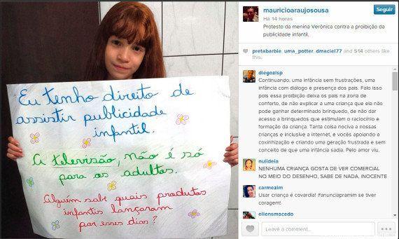 Maurício de Sousa publica foto a favor da publicidade infantil e revolta