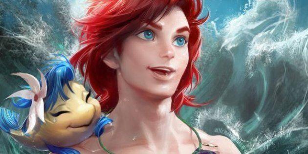 Artista brinca com o gênero das princesas e vilãs da Disney