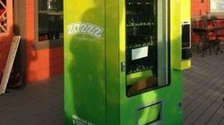 Uma máquina que vende maconha comestível?! Sim, ela
