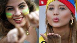 Brasil X Colômbia: mata-mata de torcedoras nas quartas-de-final da Copa