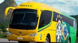 Escolha a frase do ônibus da Seleção Brasileira na