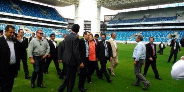 Copa 2014: Em obras, Arena Pantanal recebe visita de Dilma