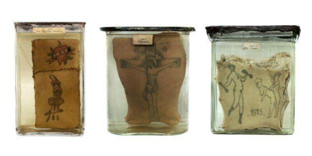 Fotógrafa registra imagens de pele humana conservada com tatuagens do século XIX