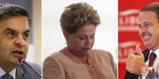 Aécio Neves e Eduardo Campos crescem com intenções de voto perdidas por Dilma