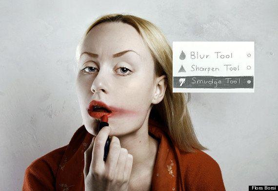 Artista cria série fotográfica para mostrar como seria usar o Photoshop na vida real