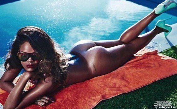Rihanna aparece nua em revista e satiriza Instagram ao ser obrigada a remover as imagens de sua conta...