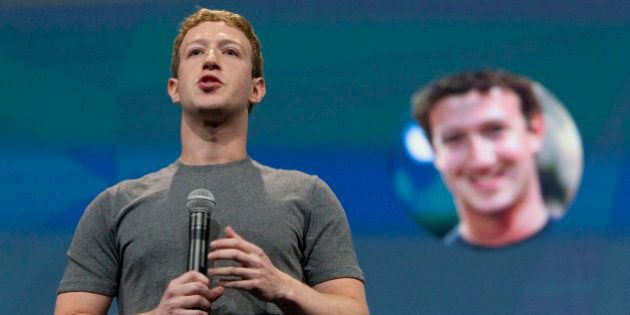 Mark Zuckerberg, chief executive officer of Facebook Inc., speaks during the Facebook F8 Developers Conference...
