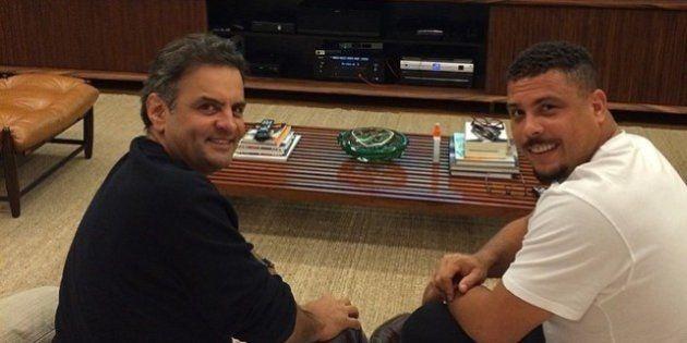 Ronaldo posta foto de apoio à candidatura de Aécio Neves no