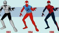 Veja a transformação do uniforme do Homem-Aranha ao longo das