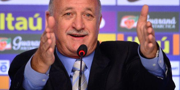 RIO DE JANEIRO, BRAZIL - MAY 07: Brazilian national team coach Luiz Felipe Scolari speaks during the...