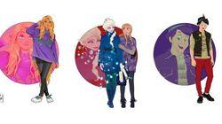 Millennials, hipsters e universitários: os personagens Disney como jovens