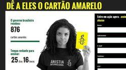 Anistia Internacional faz campanha por liberdade de expressão no