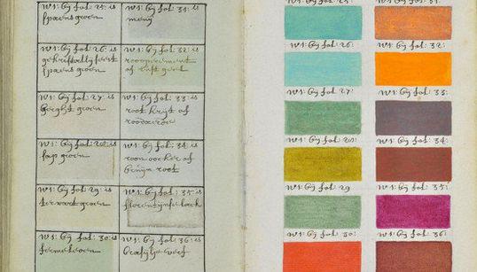 Há 300 anos, um artista catalogou todas as cores imagináveis neste