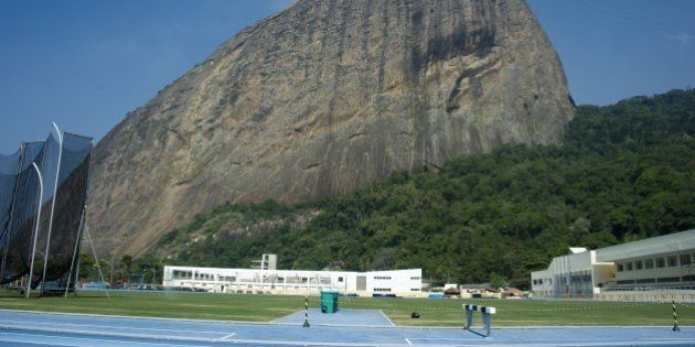 View of the Sugar Loaf Rio's landmark from the Army Physical Education School in Rio de Janeiro, Brazil...