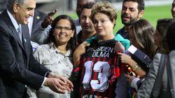 Clima festivo marcou a visita de Dilma ao