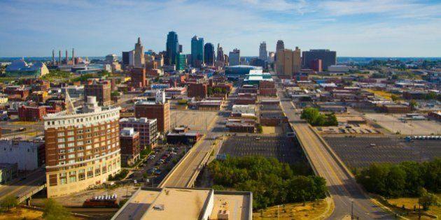 Downtown Kansas City, Missouri taken from the Sheraton Hotel at Crown