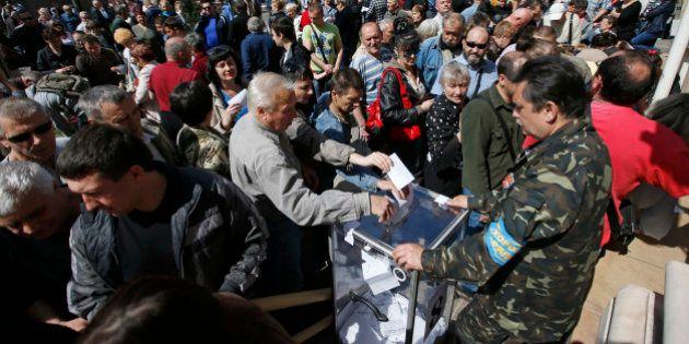 Rebeldes se dizem confiantes em divisão da Ucrânia com referendo no