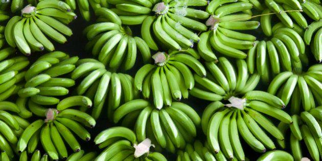 Banana verde, com efeito