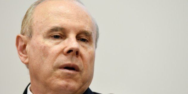 Brazilian Minister of Economy Guido Mantega is seen during the seminar New Brazil at the Lower House...