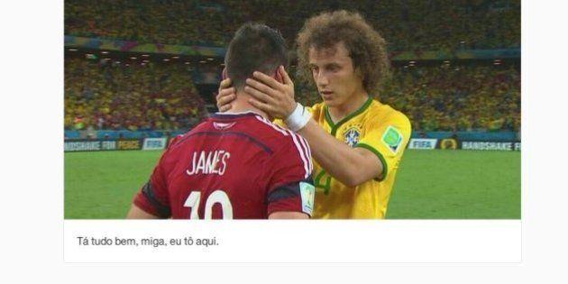 David Luiz Carinhoso. Tumblr brinca com a compaixão do jogador brasileiro