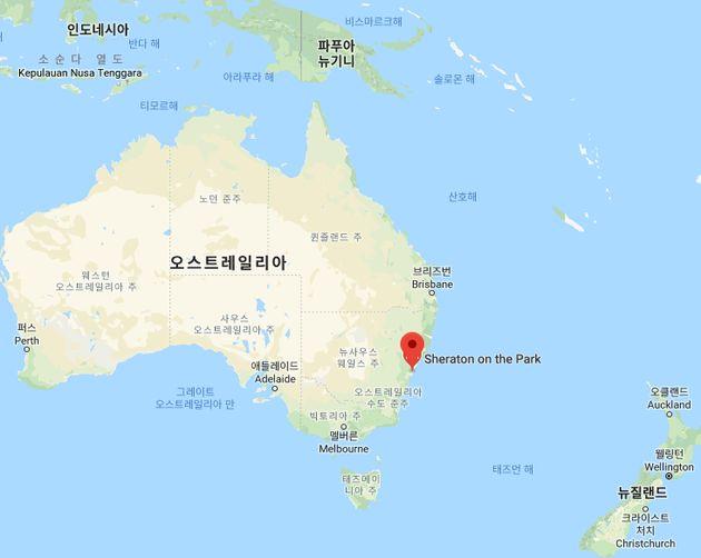 시드니는 호주 대륙의 동남쪽에