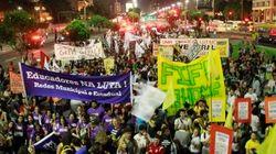 Gritos, confusão e muitas reivindicações: a 'Superquinta' de protestos teve de