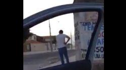ASSISTA: ele estourou o foguete de dentro do carro. Óbvio que deu
