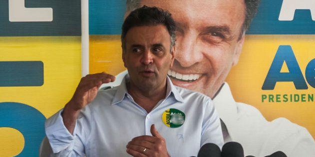 Aécio Neves critica Dilma Rousseff: 'É uma campanha criminosa de desconstrução de