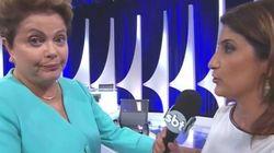 Dilma interrompe entrevista no #DebateDoSBT: 'A minha pressão