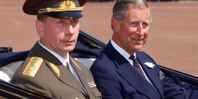 File photo dated 24/06/03 of the Prince of Wales (right) at Buckingham Palace in London with Russian...