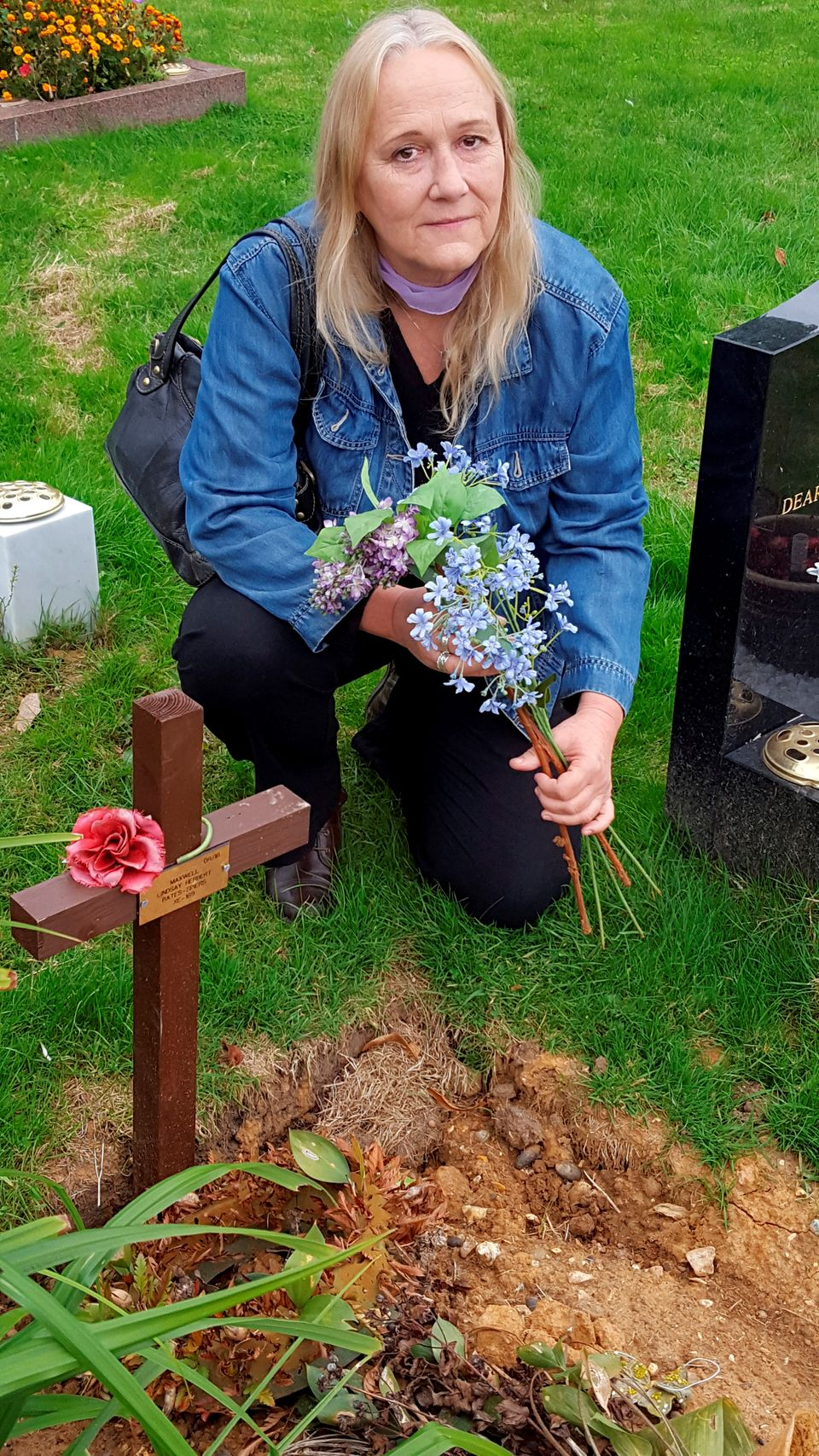 Vanessa Bates, pictured at her son's grave, says the findings of the three day inquest have given her...