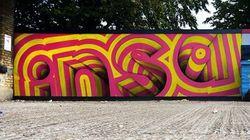 Spray em movimento: artista transforma grafitagem em