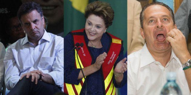 Dilma terá três vezes mais tempo de TV do que Aécio e 10 minutos a mais do que Campos, divulga