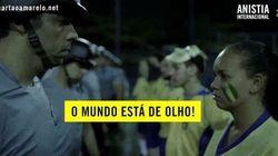 Assista: Anistia entra no clima da Copa e pede fim da violência nos