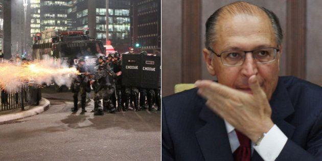 Geraldo Alckmin veta proibição do uso de bala de borracha em protestos aprovada pela
