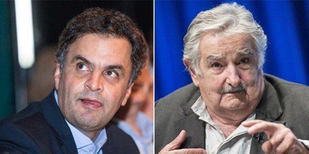 Aécio Neves diz que é contra a experiência do Uruguai de legalização da maconha: 'Brasil não pode ser