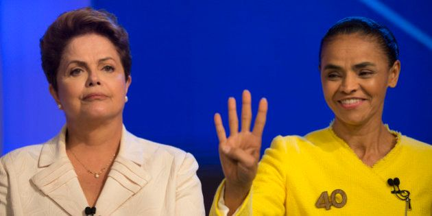 Brazil's President Dilma Rousseff, presidential candidate for re-election of the Workers Party (PT),...