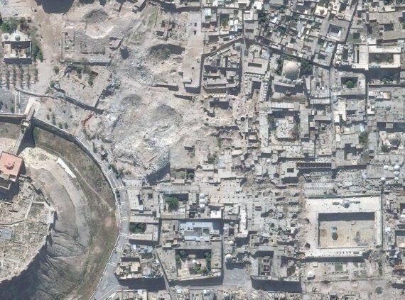 Satélites mostram 290 locais de patrimônio cultural atingidos por guerra na Síria (FOTOS ANTES E