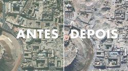 Veja imagens de satélite de monumentos destruídos por guerra na
