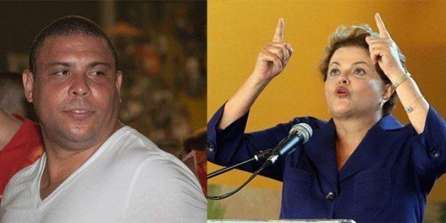 Dilma se surpreende e fica 'chateada' com críticas de Ronaldo aos atrasos nas obras da