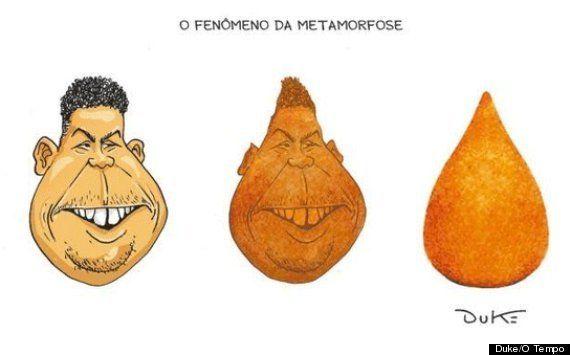 Em campanha para o amigo Aécio, Ronaldo é tachado de 'coxinha' nas redes