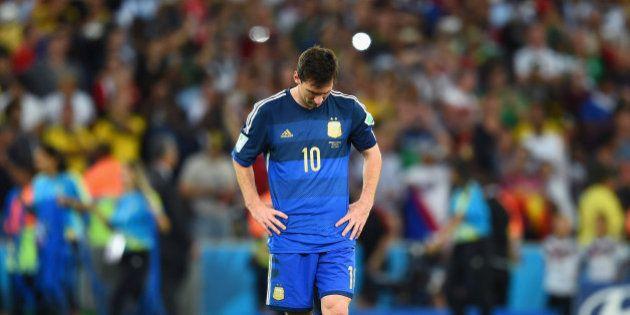 Messi viu o Brasil ser campeão do mundo, mas não viu a