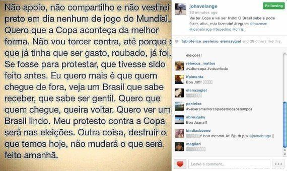 Joana Havelange compartilha frase polêmica contra a Copa: