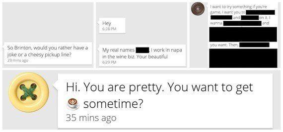 Como os homens no Tinder reagiram a três níveis diferentes de