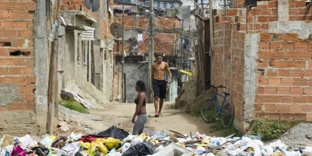 The Cidade de Deus shantytown, 45 Km west of downtown Rio de Janeiro, Brazil, on March 15, 2011, one...