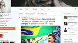Lindsay Lohan vira piada no Twitter após declarar apoio nas eleições do