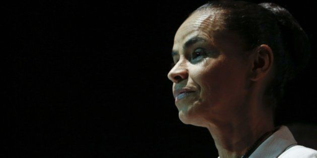 Brazilian Socialist Party's (PSB) former presidential candidate, Marina Silva announces in Sao Paulo...