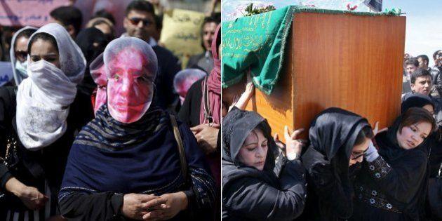 Comoção e protesto marcam enterro de jovem afegã que foi morta por