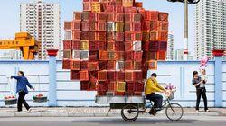 FOTOS: trabalhadores chineses e as cargas surpreendentes das